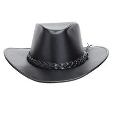 Chapéu de Couro Preto Liso Texas Diamond 25286