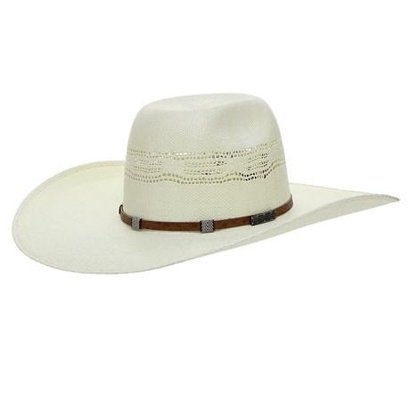 Chapéu de Cowboy Aba Larga Bandinha de Couro Bordado Texas Diamond 26398