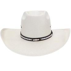 Chapéu de Cowboy Aba Larga Bandinha de Couro Texas Diamond 21048