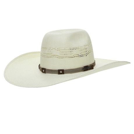 Chapéu de Cowboy Aba Larga com Fita de Nylon e Couro Texas Diamond 26397