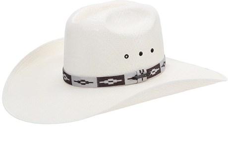 Chapéu de Cowboy Branco Texas Diamond Aba Larga 21064