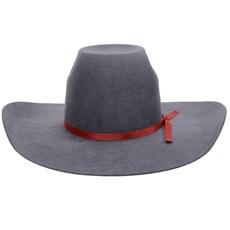 Chapéu De Cowboy Cinza Aba Larga Texas Diamond 21118