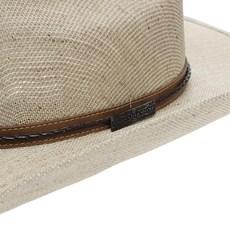Chapéu de Cowboy Country Bandinha Couro Trançado Marrom Texas Diamond 24874