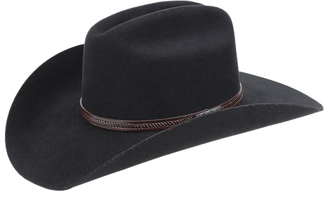 Chapéu de Cowboy Estilo Americano Preto Texas Diamond 21031