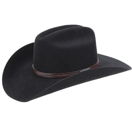 Chapéu de Cowboy Estilo Americano Preto Texas Diamond 21031 - Rodeo West 67138ac04dc