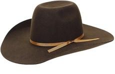 Chapéu de Cowboy Fabricado Em Feltro Marrom Texas Diamond 21132