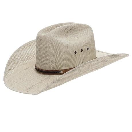 Chapéu de Cowboy Juta Bandinha de Couro Marrom Trançada Texas Diamond 24878