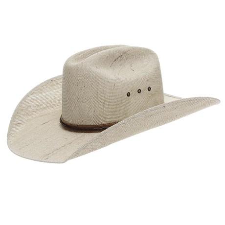 Chapéu de Cowboy Juta Bandinha de Couro Trançado Marrom Texas Diamond 24883