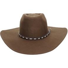 Chapéu de Cowboy Marrom Texas Diamond Copa Alta 21011