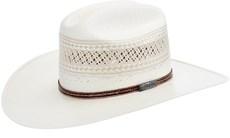 Chapéu De Cowboy Palha Branca Shantung 20X Rendada Texas Diamond 21428