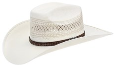 Chapéu de Cowboy Palha Shantung 20X Copa Quadrada Rendada Texas Diamond 21443