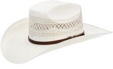 Chapéu de Cowboy Palha Ventilada Shantung 20X Copa Quadrada Texas Diamond 21439