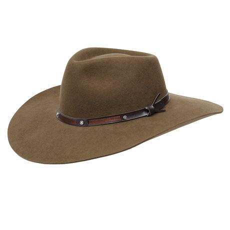 Chapéu de Feltro 5X Campo Pralana Marrom 27011