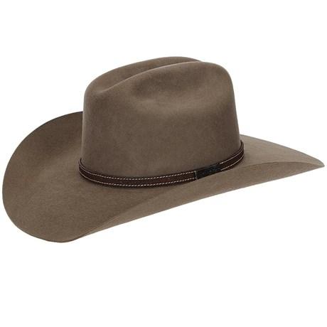 Chapéu de Feltro Bandinha em Couro Virado Texas Diamond 21038