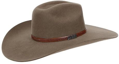 Chapéu de Feltro Castor Aba Larga Bandinha de Couro Texas Diamond 21024