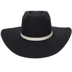 Chapéu de Feltro Copa Alta Preto Texas Diamond 20985