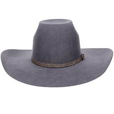 Chapéu de Feltro Copa Alta Texas Diamond Cinza 20838