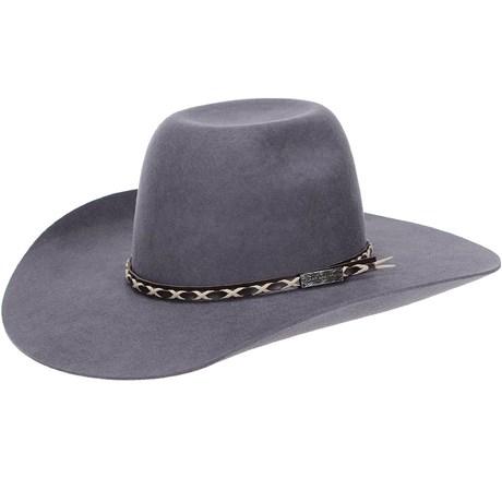 Chapéu de Feltro Copa Alta Texas Diamond Cinza 20839