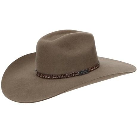 Chapéu de Feltro Copa Quadrada Aba Larga Texas Diamond 21023 - Rodeo ... 0529cd3951f