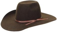 Chapéu de Feltro Cowboy Com Fita Marrom Texas Diamond 21129