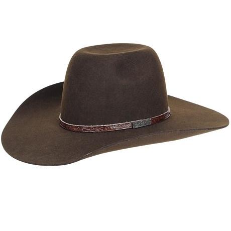 8a4fbe197bd66 Chapéu de Feltro Cowboy Marrom Texas Diamond 20776 - Rodeo West
