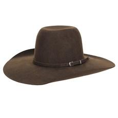 Chapéu de Feltro Marrom Aba Larga Texas Diamond 23205
