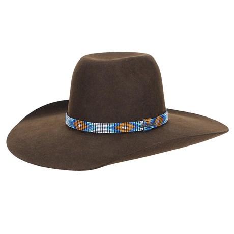 Chapéu de Feltro Marrom Aba Larga Texas Diamond 23206