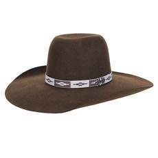 Chapéu de Feltro Marrom Aba Larga Texas Diamond 23207