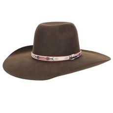 Chapéu de Feltro Marrom Aba Larga Texas Diamond 23208