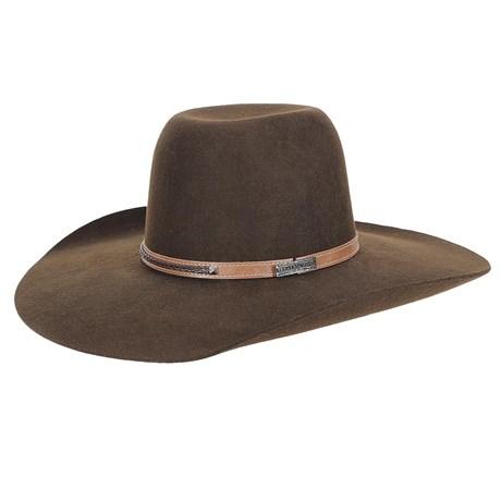 Chapéu de Feltro Marrom Aba Larga Texas Diamond 23210