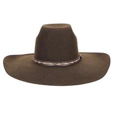 Chapéu de Feltro Marrom Aba Larga Texas Diamond 23212