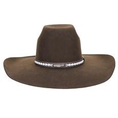 Chapéu de Feltro Marrom Aba Larga Texas Diamond 23215