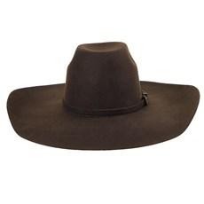 Chapéu de Feltro Marrom Aba Larga Texas Diamond 23804
