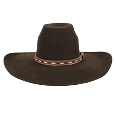 Chapéu de Feltro Marrom Aba Larga Texas Diamond 24151
