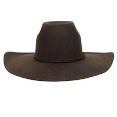 Chapéu de Feltro Marrom Aba Larga Texas Diamond 26284