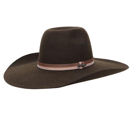 Chapéu de Feltro Marrom Aba Larga Texas Diamond 26285