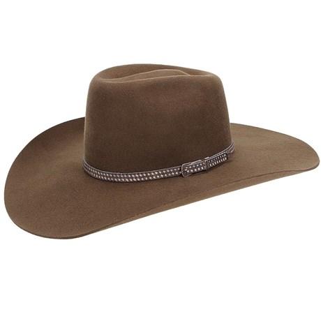 Chapéu de Feltro Marrom Com Bandinha de Couro Texas Diamond 21014