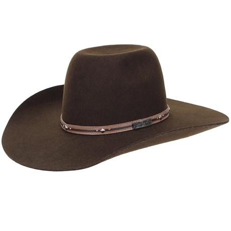 aea220624e635 Chapéu de Feltro Marrom Copa Alta Texas Diamond 20837 - Rodeo West