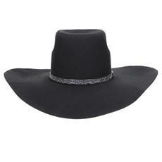 Chapéu de Feltro Preto Aba Larga Texas Diamond 22900