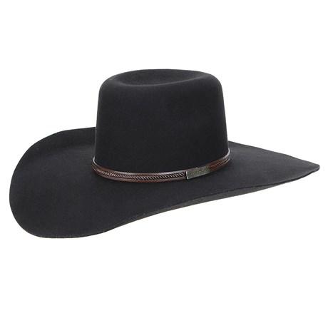Chapéu de Feltro Preto Aba Larga Texas Diamond 22901