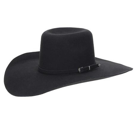 Chapéu de Feltro Preto Aba Larga Texas Diamond 22903