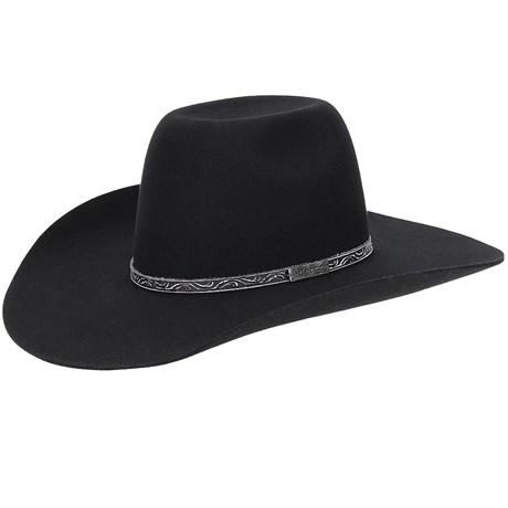 Chapéu de Feltro Preto Texas Diamond 20768
