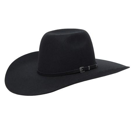 Chapéu de Feltro Preto Texas Diamond 26286