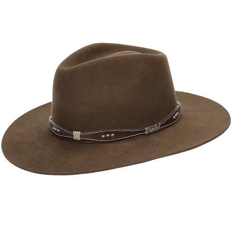 Chapéu de Feltro Social Lã Marrom - Mundial 18861