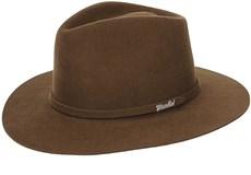 Chapéu de Feltro Social Lã Marrom - Mundial 19005