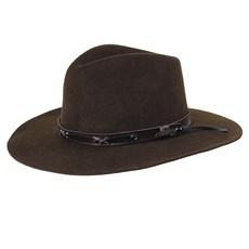 a29b800ca3c0b Chapéu de Feltro Social Lã Marrom - Mundial 18861 - Rodeo West