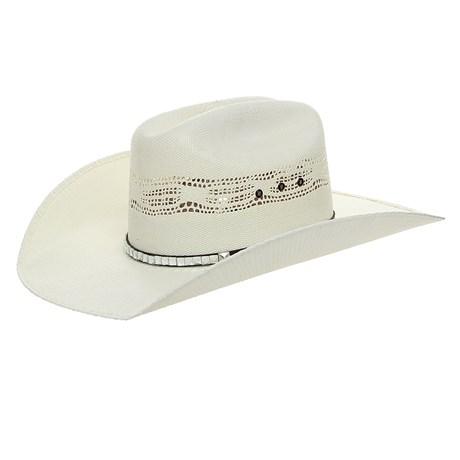 Chapéu de Palha Bandinha com Pedras de Vidro Texas Diamond Bangora 26378