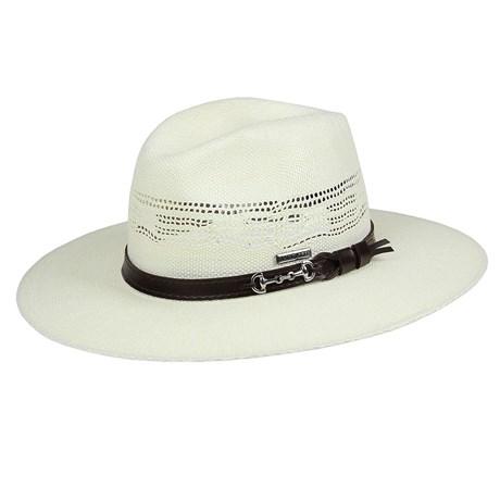 Chapéu de Palha Bangora Marfim 15x Cavalgada Marcatto 24289