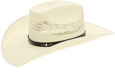 Chapéu de Palha Bangora Texas Diamond Copa Quadrada 20803