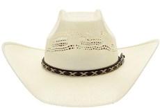 Chapéu de Peão Bangora Texas Diamond Copa Quadrada 20818